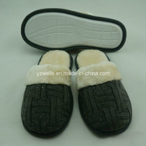 Cashmere Slippers with Plush for Unisex