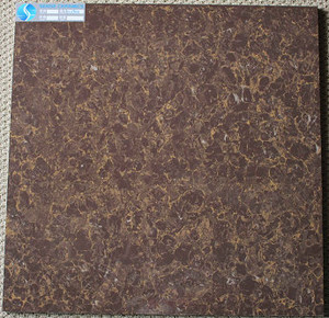 Cheap China Chocolate Brown Polished Porcelain Floor Tile pictures & photos