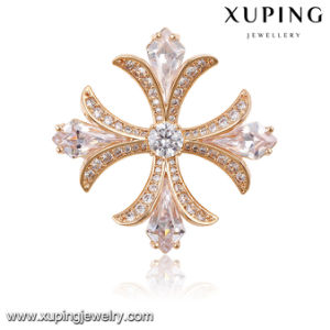 00025 Fashion Elegant Cubic Zirconia Jewelry Brooch in Rose Gold-Plated pictures & photos