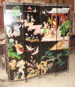 Antique Chinese Painted Black Screen Lwl-02 pictures & photos