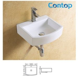 Ceramic Sanitary Ware Wall Hung Basin Wash Basin 8299 pictures & photos