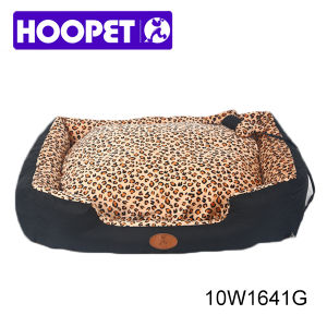 Noble Leopard Print Foam Pet Bed House pictures & photos