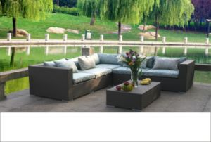 PE Rattan Garden Sofa Set Outdoor Leisure Sofa pictures & photos