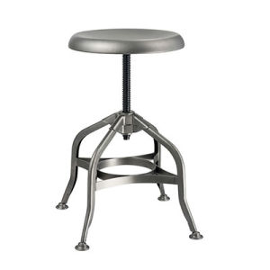 Reasonal Price Steel Metal Swivel Round Industrial Bar Stools (FS-Scew14037B) pictures & photos