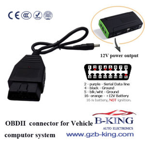 Vehicle OBD II Memory Saver Connector pictures & photos