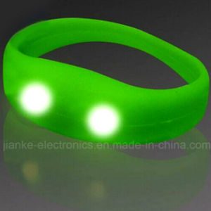 Music Control LED Blinking Bracelets with Logo Print (4010) pictures & photos