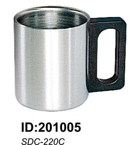 18/8 High Quality Stainless Steel Double Wall Mug Sdc-220c pictures & photos