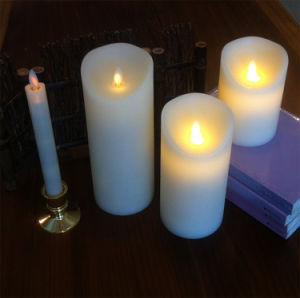 Moving Flameless Wax LED Candles with Timer
