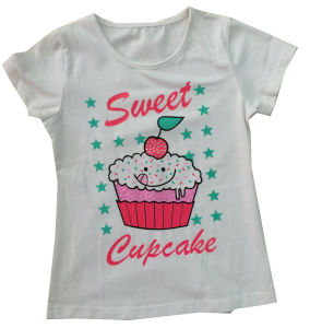 Wholesale Girl Kids Children Models Cotton Round Neck Printing T-Shirt Design Sgt-029 pictures & photos
