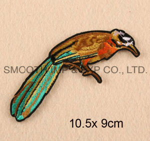 Custom Promotion Fashion Logo 3D Bird Embroidered Patches for Caps Badge pictures & photos