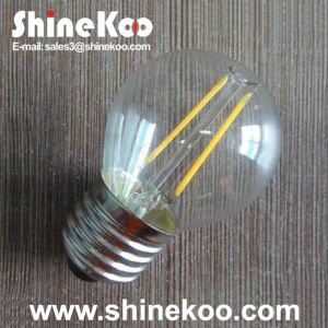 Glass G45 2W LED Filament House Bulb pictures & photos