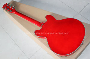 Hanhai Music / Semi-Hollow Red Electric Guitar (ES-335) pictures & photos