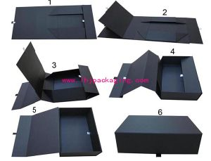 China Unique Folding Packaging Wine Paper Box with Magnets - China ...