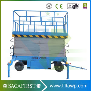 6m-12m Mobile Semi Electric Mobile Platform Scissor Lift pictures & photos