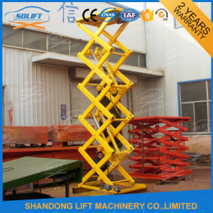 Warehouse Cargo Hydraulic Fixed Scissor Lift for Sale pictures & photos