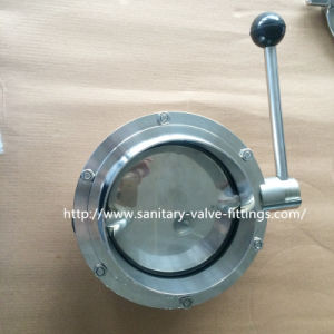 "High Quality Stainless Steel Sanitary Butterfly Valve 6"" Inch Butterfly Valve Butterfly Valve Gearbox with Quality pictures & photos"