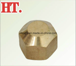 CNC Machining Cast High Quality Brass Pipe Cap Fitting (FIP) pictures & photos