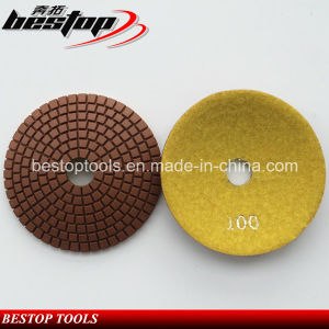 "3""/80mm Stone Diamond Flexible Convex Resin Wet Polishing Pads pictures & photos"