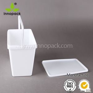 4L Square White Plastic Box pictures & photos