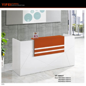 2017 Customized Simple Style MDF Board Office Reception (Yf-16003t)