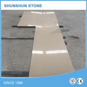 Beige Artificial Quartz Stone for Kitchen Countertop pictures & photos