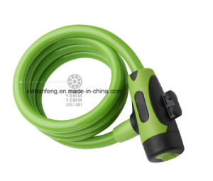 High Quality Retractable Bicycle Spiral Cable Lock (HLK-015) pictures & photos