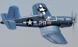 4 CH Fms Blue Mini F4u Corsair V2 RC Warbird Airplane