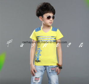 High Quality Ripped Printing Boys T Shirt Children Wear pictures & photos