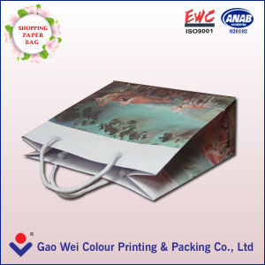 Custom Printing Handmade Packaging Paper Bag with Logo Glossy Lamination pictures & photos