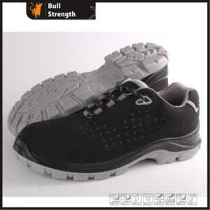 PU/TPU Outsole Suede Leather Safety Shoe with Kevlar Midsole (SN5435) pictures & photos
