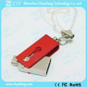 Innovative Design Slide Twist Metal 16GB OTG USB Drive (ZYF1606) pictures & photos