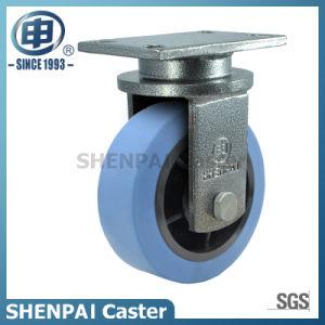 "10""Blue Iron Core Nylon Swivel Locking Caster Wheel pictures & photos"