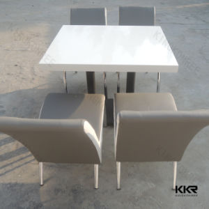 Solid Surface Resin Stone Furniture Square Dining Table for Restaurant pictures & photos