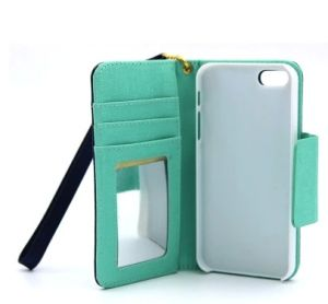 for iPhone 6 Plus Credit Card Case PC + PU Leather Phone Case Cover