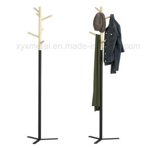 Fashion Modern Style Metal Steel Base Wooden Hanger Hat Coat Rack pictures & photos