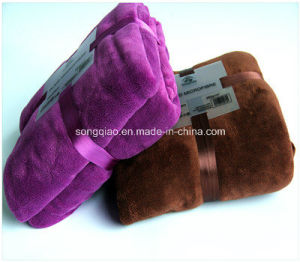 Plain Dyed Flannel Blanket with Soft Finish pictures & photos