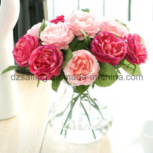 Wholesale Cheap Decorative Single Rose Artificial Flower (SF15423)