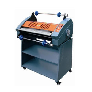 Hot Roll Laminator with Cabinet FM-3810 Laminating Machine pictures & photos