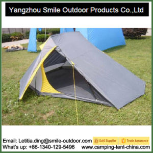 2 Person Double Layer Aluminum Rod Triangle Camping Tent pictures & photos