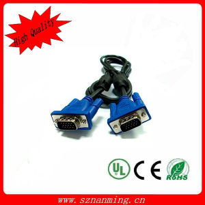 VGA Monitor Male to Male M/M Cable - Blue + Black (140CM-Length) pictures & photos