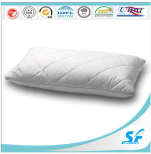 White Plain Cotton Quilted Feather and Fiber Filling Pillow pictures & photos