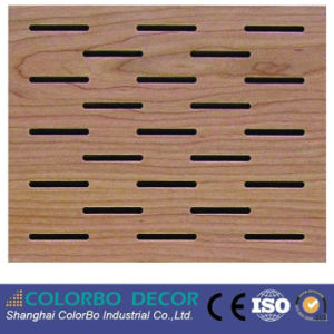 Building Material Grooved Wooden Wall Acoustic Board for The Gym pictures & photos