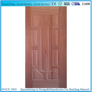 Real Sapelli Veneer Door Skin Plywood with Molded 9 Panel pictures & photos