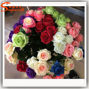 Decorative Real Touch Artificial Rose Flower pictures & photos