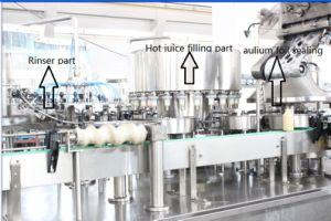 HDPE Bottle Juice Filling Aluminum Foil Sealing Machine pictures & photos