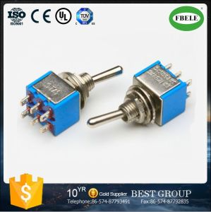 on-on 6A 125VAC Miniature Toggle Switch, Tact Switch pictures & photos