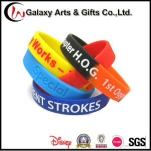 Segmented Screen Printed Wrist Band/Silicone Wristband/Rubber Wristband