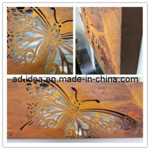 Large Laser Cut Butterfly Rust Light Box Wall Decor (GAR-005) pictures & photos