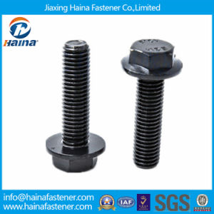 DIN6921 Black Oxide Gr8.8 Gr10.9 Full Threaded Hex Flange Bolt pictures & photos