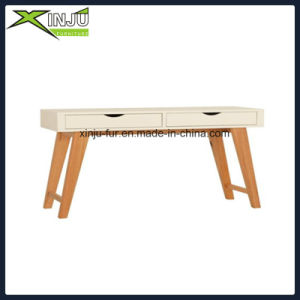 Wooden Coner Computer Desk with Timber Legs